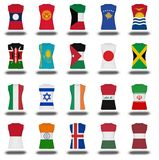 Compilation of nationals flag shirt icon on white background part 510 Royalty Free Stock Images
