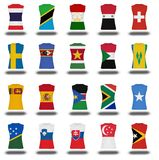Compilation of nationals flag shirt icon on white background part 910 Royalty Free Stock Photography