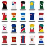 Compilation of nationals flag shirt icon on white background part 710 Stock Photography