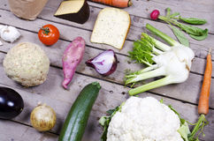 Compilation of organic vegetables Royalty Free Stock Photo