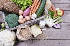 Compilation of organic vegetables Stock Photos