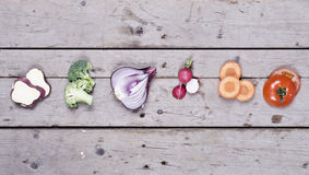 Compilation of organic vegetables Stock Images