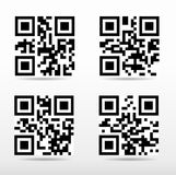 Compilation qr code ready to scan with smart phone.  Stock Photos