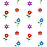 Compilation simple de classique de modèle de fleur Image libre de droits