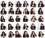 Compilazione di espressioni facciali. Fotografia Stock Libera da Diritti