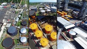 Compilazione di vista aerea della pianta oleifera in Indonesia video d archivio