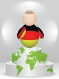 Compinche alemán en el podium Imágenes de archivo libres de regalías