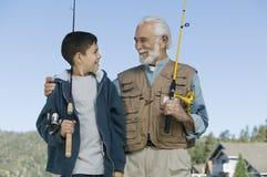 Compinches de la pesca Fotos de archivo