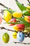 Compisition van Pasen stock afbeeldingen
