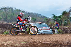 Compita a cruz de Moto, o campeonato 2017 da reunião do F2 Tailândia, o modelo clássico do carro e a diversidade do tipo Junte-se Fotografia de Stock