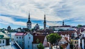 Compita de la ciudad vieja Tallinn, Foto de archivo