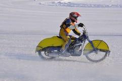 Compita o estrada do gelo, acelere-o fotografia de stock