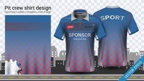 Compitiendo con la camiseta con la cremallera, la plantilla de la maqueta de la ropa del deporte, crea la ropa y los uniformes ilustración del vector