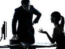 Compito dell'adolescente della ragazza dello studente dell'insegnante del padre dell'uomo Fotografia Stock Libera da Diritti