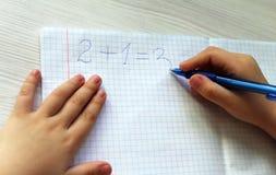 Compito di per la matematica Immagini Stock