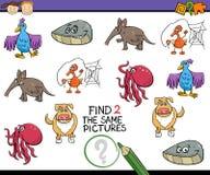 Compito educativo per i bambini Fotografie Stock