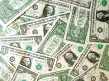 Complètement du dollar américain d'argent Image libre de droits