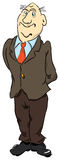 Complacency. Smug man in a jacket with head held high. Vector illustration vector illustration