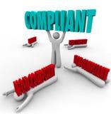 Complacente contra a Não-conformidade um Person Follows Rules Fotos de Stock Royalty Free