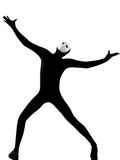 complaigning να ανατρέξει εκτελεστής μασκών mime Στοκ Εικόνες