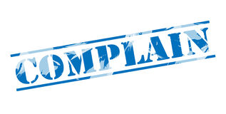 Complain blue stamp. Isolated on white background Royalty Free Stock Images