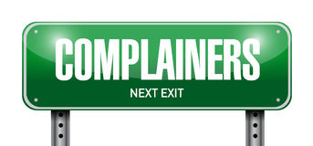 Complainers street sign illustration design Stock Photos