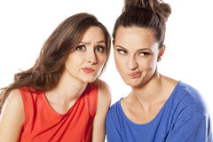 Complaining girls royalty free stock photos