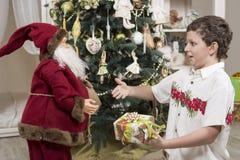 Complaining to Santa Clause Royalty Free Stock Photos