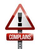 Complains warning sign illustration Stock Image