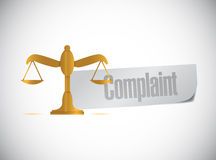 Complaint balance sign illustration design Royalty Free Stock Image