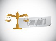 Complaint balance sign illustration design Royalty Free Stock Image