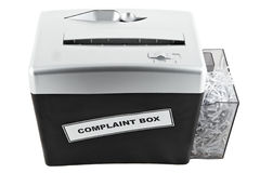 Complaint box shredder isolated Royalty Free Stock Images