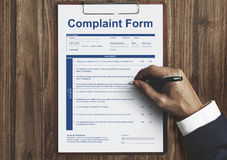 Complaint Form Business Concept Royalty Free Stock Photography