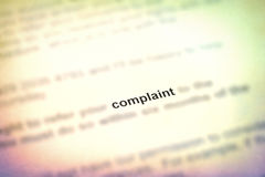Complaint Royalty Free Stock Photo