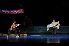 The complaint of the transfer- Jiangxi opera a steelyard Royalty Free Stock Photography