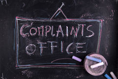 Complaints office Stock Photo