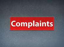 Complaints Red Banner Abstract Background. Complaints Isolated on Red Banner Abstract Background illustration Design royalty free illustration