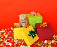 Compleanno allegro Fotografie Stock
