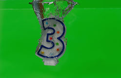 Compleanno-Candela Fotografie Stock