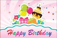 Compleanno card-06 Fotografia Stock