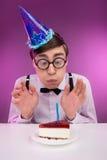 Compleanno dei nerd. immagini stock libere da diritti