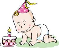 Compleanno del bambino Fotografia Stock Libera da Diritti