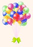 Compleanno del partito degli aerostati buon Fotografie Stock Libere da Diritti