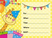 Compleanno della carta dell'invito Fotografia Stock
