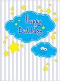 Compleanno della cartolina d'auguri buon Fotografia Stock