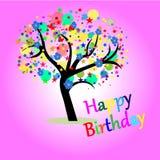 Compleanno della cartolina d'auguri buon Immagini Stock Libere da Diritti