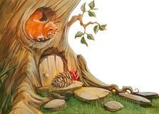 Compleanno dello scoiattolo illustrazione vettoriale
