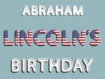 Compleanno di Abraham Lincoln royalty illustrazione gratis