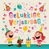 Compleanno di Holland Netherlands Happy dell'olandese del verjaardag di Gelukkige Fotografia Stock Libera da Diritti