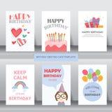 Compleanno, festa, saluto di natale e carta dell'invito Fotografia Stock Libera da Diritti